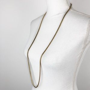 Givenchy Gold Tone Long Chain Necklace
